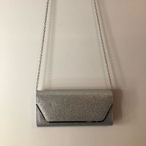 Sparkly silver purse, tags on!